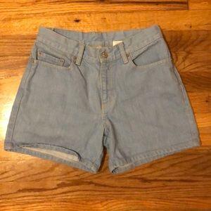 Levi Strauss high waisted denim shorts